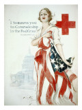 Harrison Fisher - I Summon You to Comradeship in the Red Cross, Woodrow Wilson Plakát