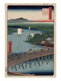 Great Bridge at Senju Prints by Ando Hiroshige