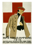 Red Cross Collection Drive, 1914 Poster by Ludwig Hohlwein