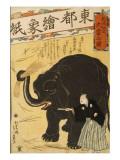 Imported Elephant Posters by Yoshiiku Ochiai