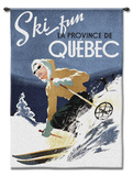 Ski Quebec Wall Tapestry