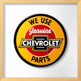 Chevy Genuine Parts Round Framed Sign