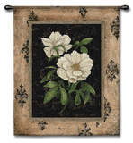 Silver Peony Wall Tapestry by Regina-Andrew Design 