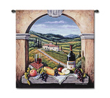 Vineyard Road Wall Tapestry by Barbara R. Felisky