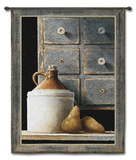 Spice Chest and Pears Wall Tapestry by Ray Hendershot