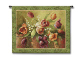Terrace Tulips Wall Tapestry by Fabrice De Villeneuve