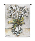 White Orchid Wall Tapestry by Nicole Etienne