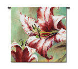 Blooming Lily Wall Tapestry by Brent Heighton