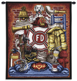 Fireman's Pride Wall Tapestry