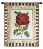 Red Rose II Wall Tapestry