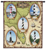 Lighthouses of the Southeast Wall Tapestry