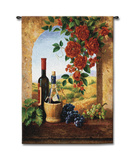 Patio View Wall Tapestry by Fran Di Giacomo
