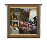 Grand Piano Room Wall Tapestry by  Foxwell