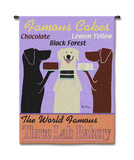 Three Lab Bakery Wall Tapestry by Ken Bailey