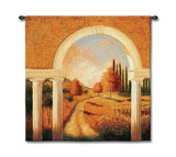 Tuscan Archway Wall Tapestry by Jill Schultz McGannon