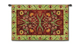 Crewel Floral Wall Tapestry by Jennifer Brinley