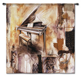 Piano Extraordinaire Wall Tapestry by Ruth Franks