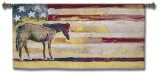 Horse and Flag Wall Tapestry