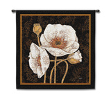 Poppies by Night Wall Tapestry by Melissa Pluch