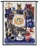 Policeman's Pride Wall Tapestry