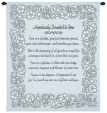 Wedding Embroidery in Silver Wall Tapestry