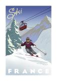 Ski France Plakaty autor Kem Mcnair