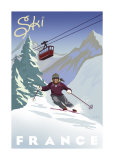 Ski France Poster by Kem Mcnair
