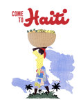 Come to Haiti Travel Giclee Print by E. Lafond