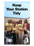 Keep Your Station Tidy, BR, 1979 Giclee Print
