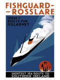 Fishguard-Rosslare, artwork for GWR, 1932 Giclee Print