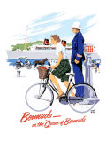 Queen of Bermuda Travel Giclee Print by Adolph Treidler
