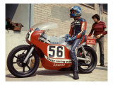 Italian GP Motorcycle Pit Stop Wydruk giclee