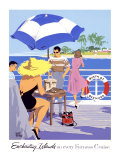 Furness Enchanting Island Cruises Giclee Print by Adolph Treidler