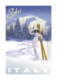 Ski Italy Prints by Mcnair