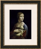 Portrait of Cecilia Gallerani (Lady with an Ermine) Art by Leonardo da Vinci