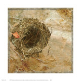 Nest Red Leaf Prints by Susan Friedman