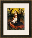 The Virgin and Child with Two Music-Making Angels in a Rose Garden Prints by Rogier van der Weyden