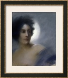 Woman with a Crescent Moon Or, the Eclipse, 1888 Prints by Albert Besnard