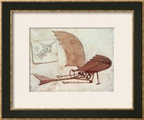 Flying Machine Poster by Leonardo da Vinci