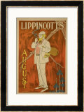 "Reproduction of a Poster Advertising the August Issue of ""Lippincott's Magazine"" Poster by Will Carqueville"