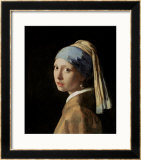 Girl with a Pearl Earring, circa 1665-6 Print by Jan Vermeer