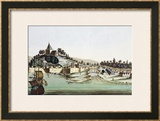 """The Port and Town of Malacca, Malaysia, Illustration from """"Le Costume Ancien Et Moderne"""" Prints by Gaetano Zancon"""