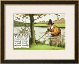 Rule XXXII: A Player May Stand out of Bounds to Play a Ball Lying Within Bounds, from Rules of Golf Prints by Charles Crombie