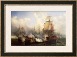 The Redoutable at Trafalgar, 21st October 1805 Prints by Auguste Etienne Francois Mayer