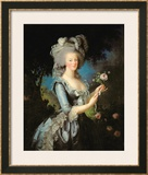 Marie Antoinette (1755-93) with a Rose, 1783 Posters by Elisabeth Louise Vigee-LeBrun