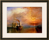 "The ""Fighting Temeraire"" Tugged to Her Last Berth to be Broken Up, Before 1839 Prints by William Turner"