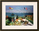The Terrace at Sainte-Adresse, 1867 Prints by Claude Monet