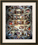 Sistine Chapel Ceiling and Lunettes, 1508-12 Posters by  Michelangelo Buonarroti
