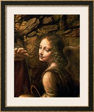The Virgin of the Rocks (The Virgin with the Infant St. John Adoring the Infant Christ) Art by  Leonardo da Vinci