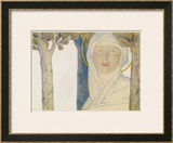 Saint Brigid Irish Slave Who Became a Nun Who Became a Saint Also Known as Bride Bridget Prints by Cayley Robinson
